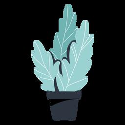Ilustração de pote preto de planta de casa