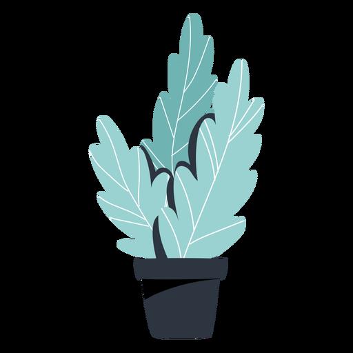 Ilustración de maceta negra de planta de interior Transparent PNG