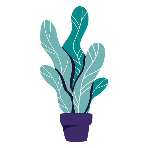 Houseplant blue pot illustration Transparent PNG