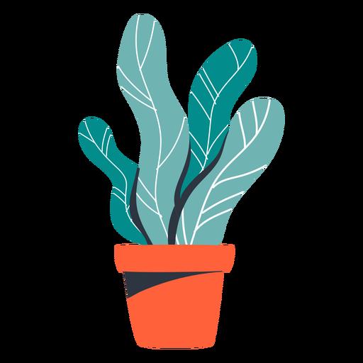 Ilustración de maceta roja de planta de interior