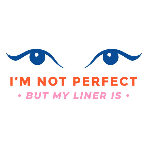Im not perfect badge