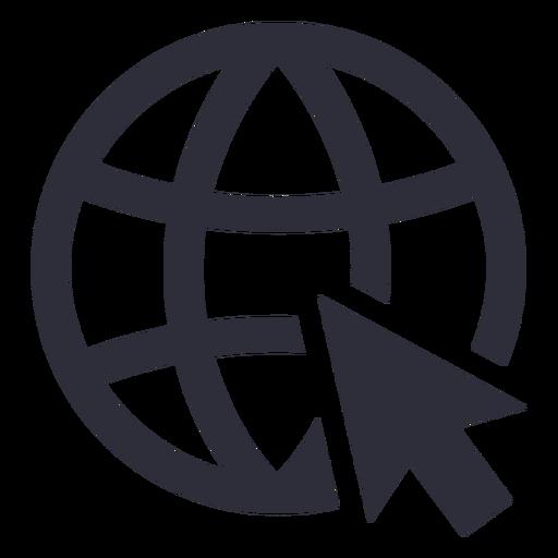 Trazo de icono de sitio web de Internet