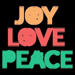Alegría amor paz insignia