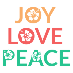 Joy love peace badge