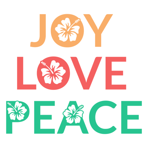 Insignia de paz de amor de alegría Transparent PNG