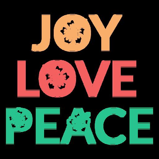 Joy love peace badge