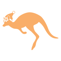Kangaroo christmas flat