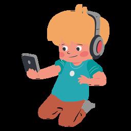 Carácter de auriculares de teléfono móvil para niños