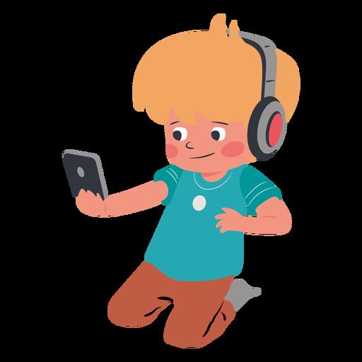Kid cellphone headphones character