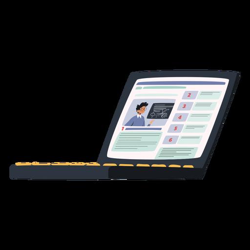 Laptop device illustration