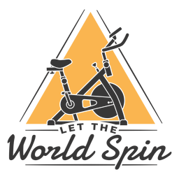 Let the world spin badge