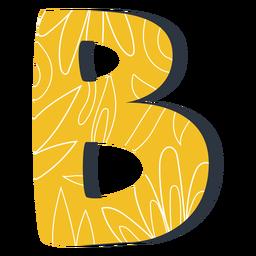 Ilustração de letra b amarelo