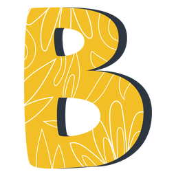 Letter b yellow illustration