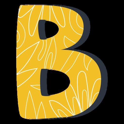 Ilustración de letra b amarilla