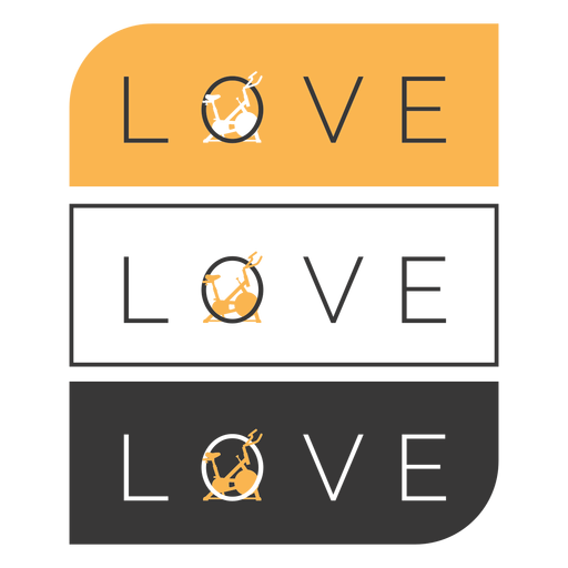 Love spin class badge Transparent PNG