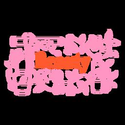 Insignia de belleza de maquillaje