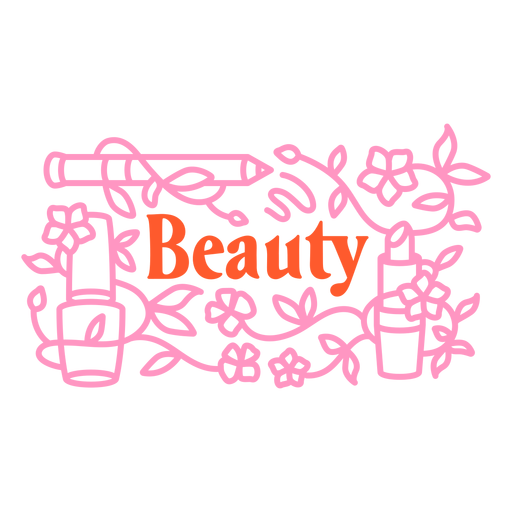 Makeup beauty badge