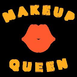 Crachá de rainha de maquiagem