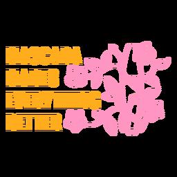 Mascara makes everything better badge