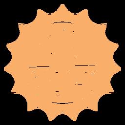 Insignia alegre y brillante