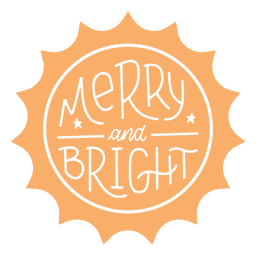 Merry and bright badge