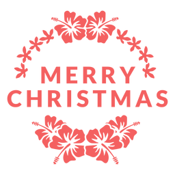 Merry christmas badge natal