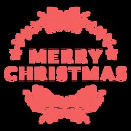 Merry christmas badge natal