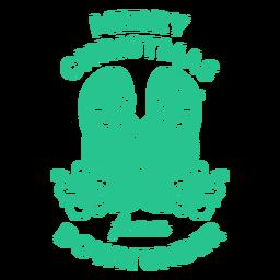 Feliz navidad desde abajo bajo insignia