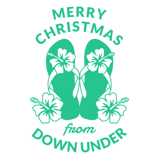 Merry christmas from down under badge Transparent PNG