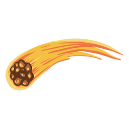 Ilustração da órbita do meteoro