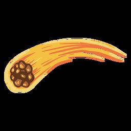Ilustración de la órbita de un meteorito