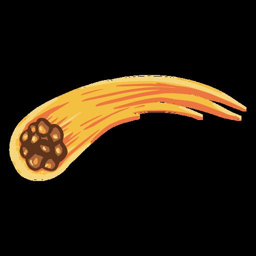 Ilustración de la órbita de un meteorito Transparent PNG