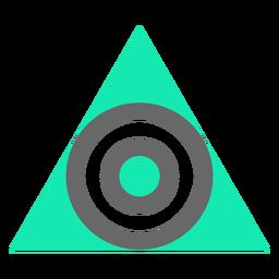 Círculo de triángulo de estilo moderno plano