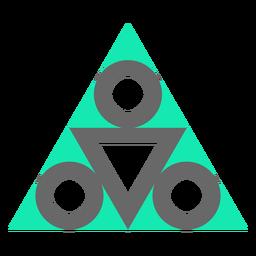 Diseño de triángulo de estilo moderno plano