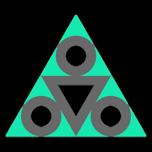 Plano de diseño de triángulo de estilo moderno