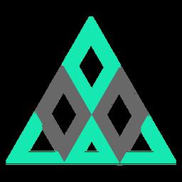 Modern style triangle diamonds flat