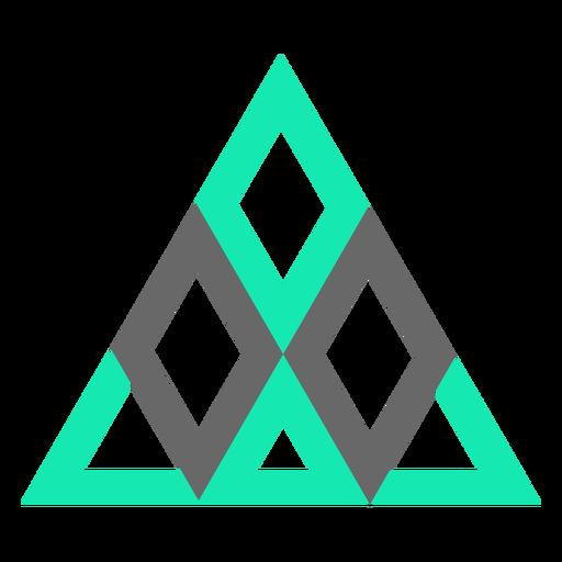 Diamantes triangulares de estilo moderno planos