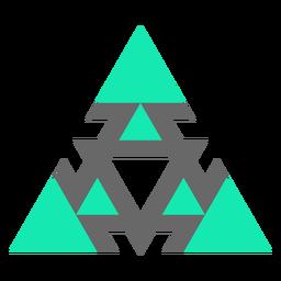 Triángulo de estilo moderno plano