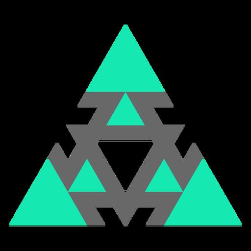 Modern style triangle flat