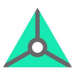 Modern style triangle with circle flat