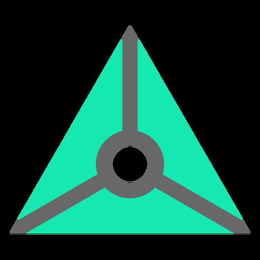 Triángulo de estilo moderno con círculo plano