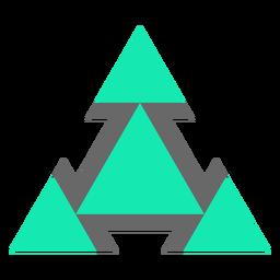 Triángulos de estilo moderno planos