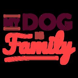 Mi perro es letras familiares