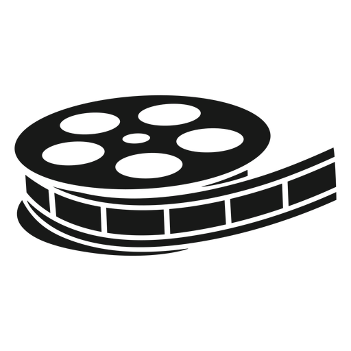 Carrete de película antiguo negro