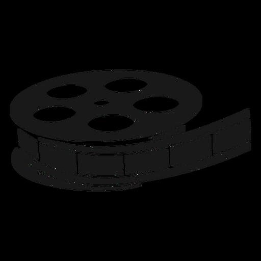 Old film reel black