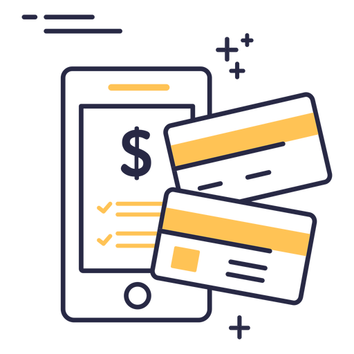 Online shopping credit cards stroke icon