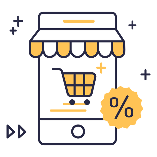 Online shopping discount stroke icon