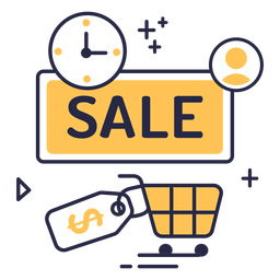 Online shopping sale stroke icon