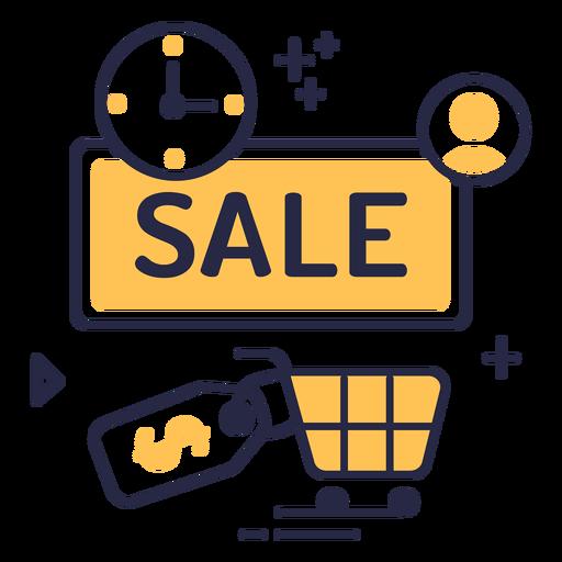 Icono de trazo de venta de compras en línea
