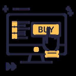Icono de trazo de compras en línea